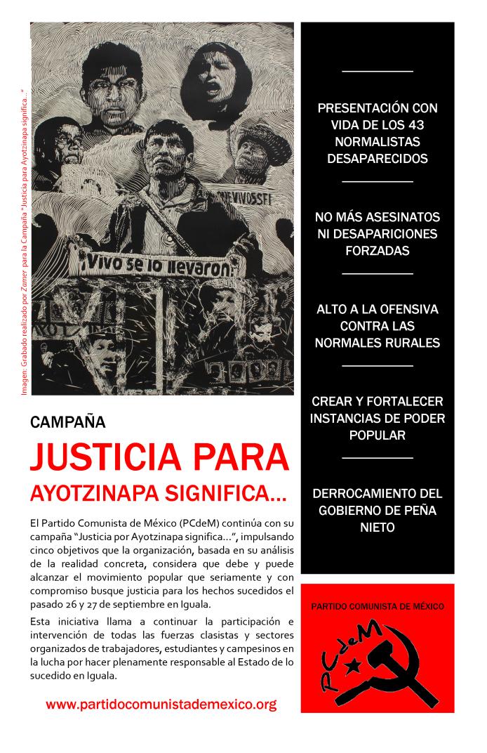 Campaña Justicia para Ayotzinapa significa
